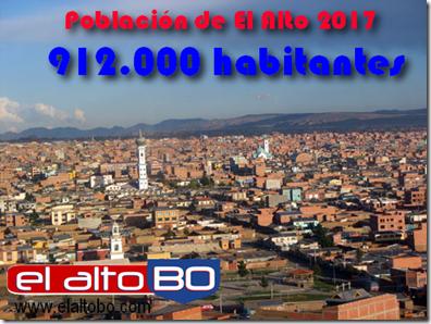 Población de El Alto 2017