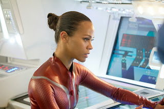Zoe Saldana as Uhura in Star Trek Into Darkness, Directed by J. J. Abrams