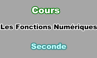 Cours Fonctions Numériques Seconde PDF