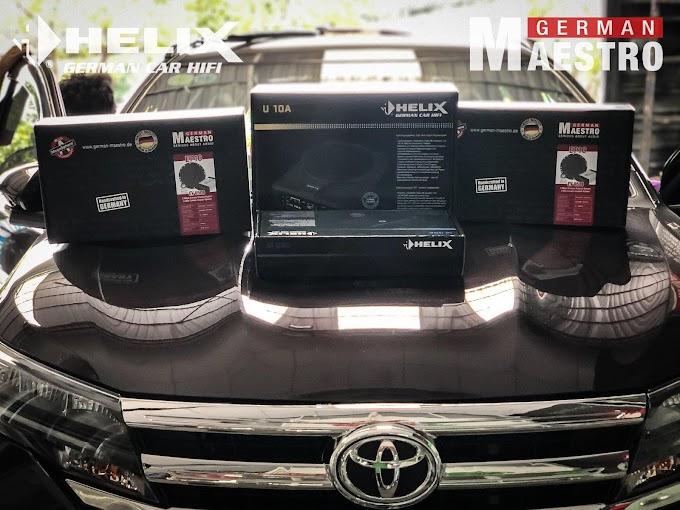 Anh chủ Toyota RUSH lên combo âm thanh HELIX &GERMAN MAESTRO SET 7 tạI HOA MAI AUTO