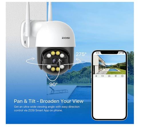 ZOSI C289 WiFi Pan/Tilt Outdoor Security Camera