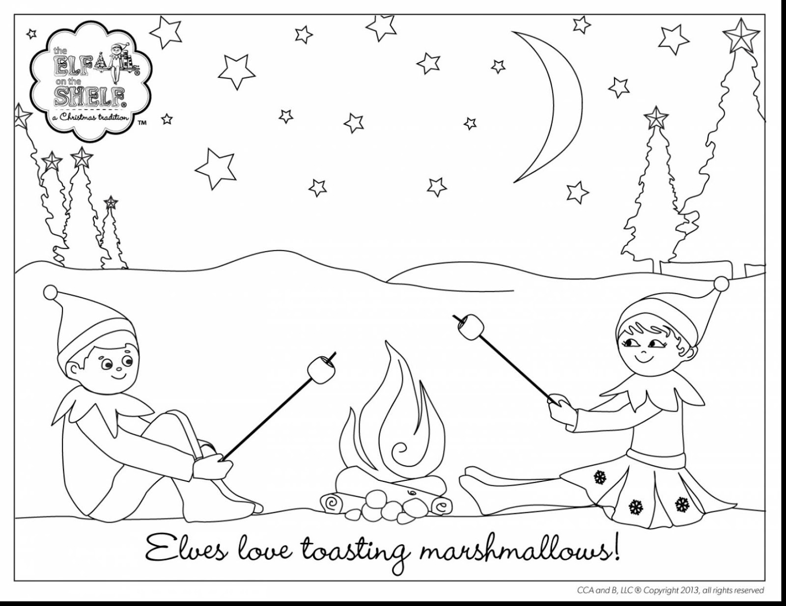 Christmas With Elf On The Shelf North Pole Page Coloring Pages
