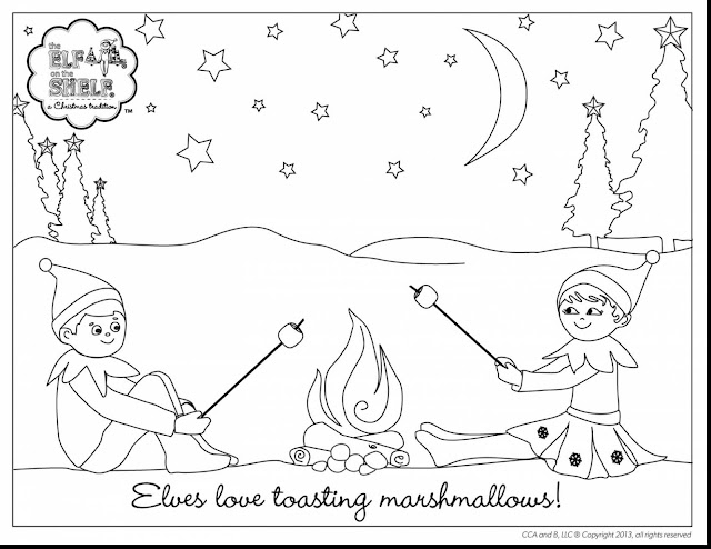 the elf on the shelf coloring pages - little lids siobhan