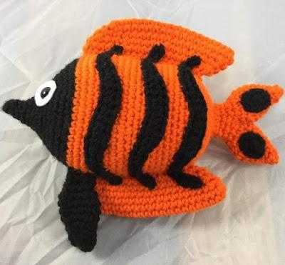 Вязаная рыбка
