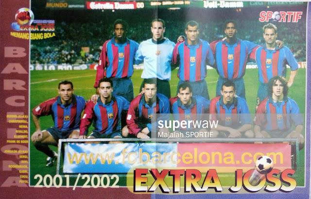 BARCELONA TEAM SQUAD 2001