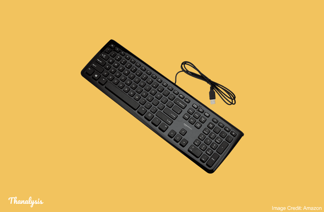 Latest review of AmazonBasics Black wired keyboard of KU-0833 model including FAQs.
