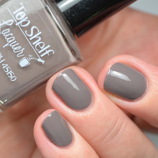 brown nail polish swatch