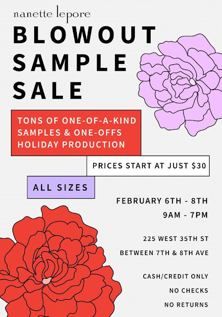 sample sale Nanette Lepore