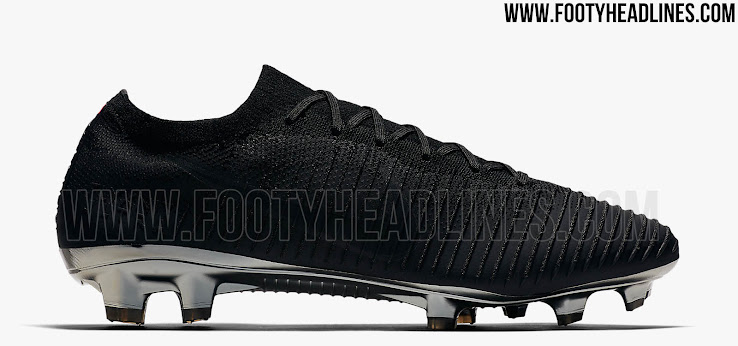 6a1f9cd96a0 ... Nike Flyknit Ultra soccer boot in black and metallic silver. +1. 2 of 2