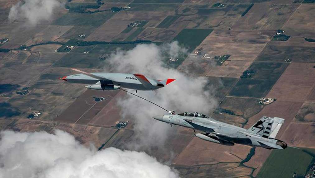 Drone Refuels U.S. Navy Fighter Jet In Midair