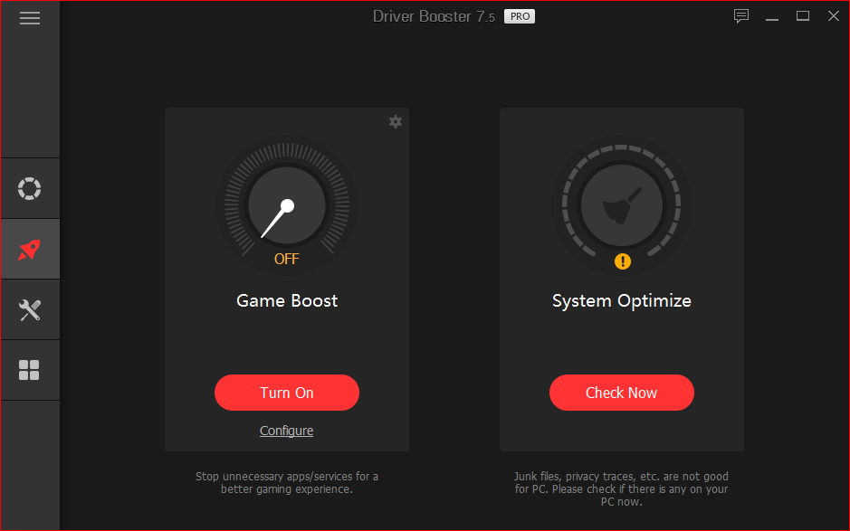 Game booster for windows