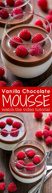 Vanilla Mousse with Chocolate