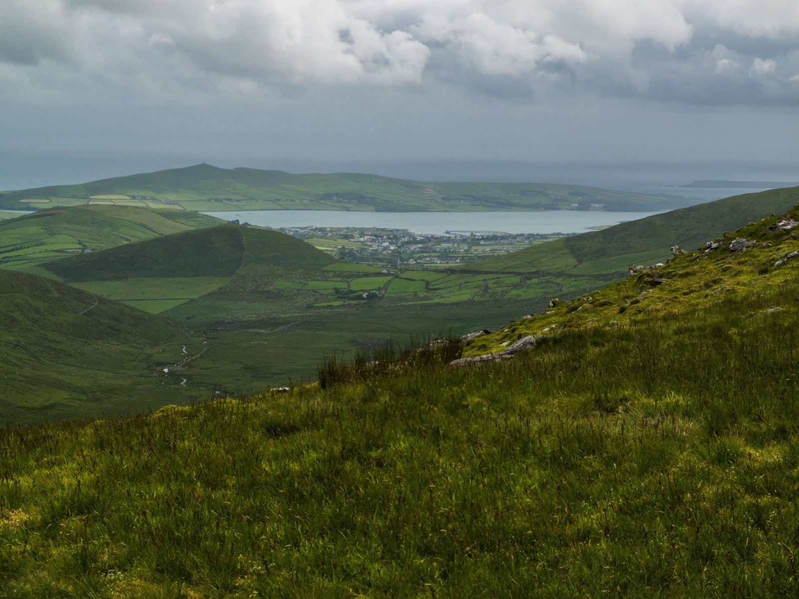 View of Dingle from Conor Pass Co.Kerry.