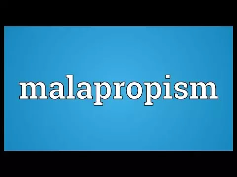 Malapropism: An Overview