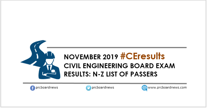 CE Result November 2019: A-M Passers Civil Engineer board exam