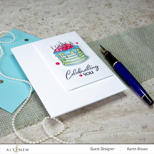 Altenew CAS Layered Cake Birthday Card