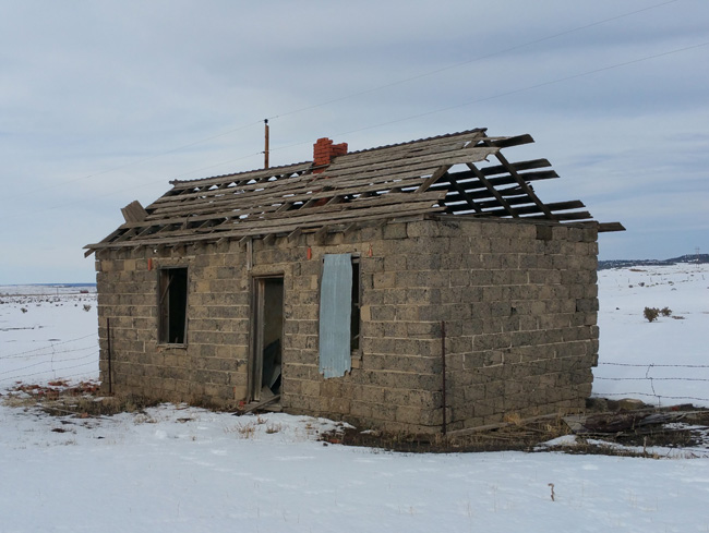Abandoned building in Ludlow, Colorado Ghost Town