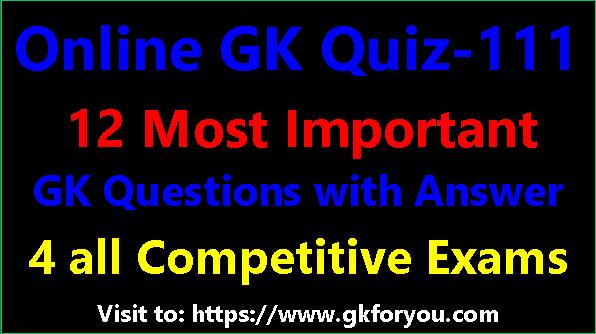 Hindi GK Quiz # 111