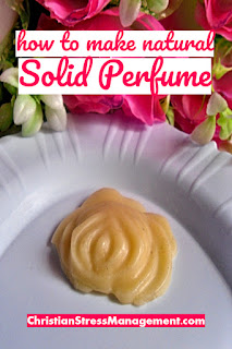 How to make natural solid perfume