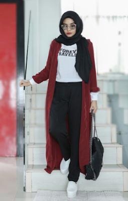 Model Baju Zaskia Sungkar Dengan Outer