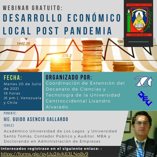 """""""Desarrollo Económico Local Post Pandemia"""""""