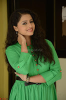 Geethanjali in Green Dress at Mixture Potlam Movie Pressmeet March 2017 077.JPG