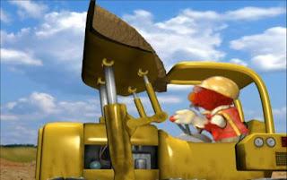 Elmo accidentally spills the dirt on himself. Sesame Street Elmo's World Building Things Tickle Me Land