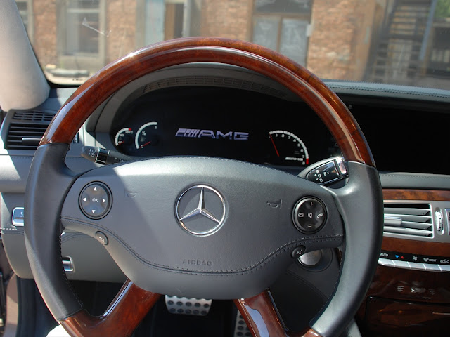 mercedes w216 cl 63 amg wooden steering wheel