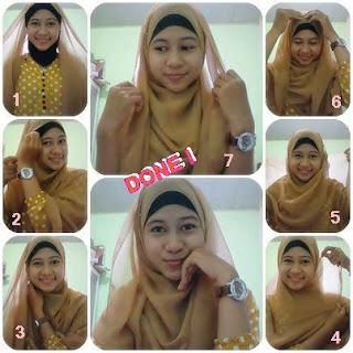 Cara memakai hijab segi tiga terbaru