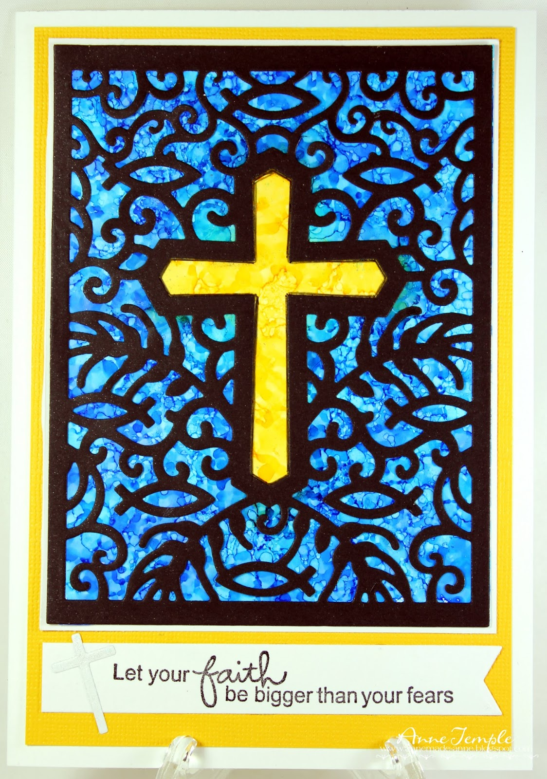 Anne - Made: Stained Glass Cross