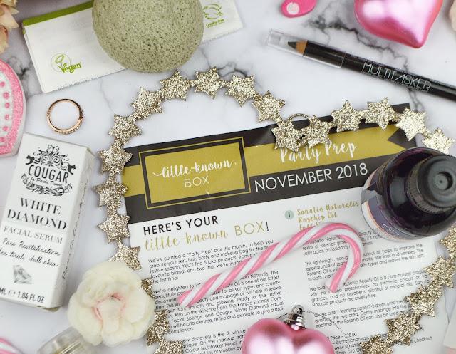 Unboxing the November 2018 Little Known Box, Review, Lovelaughslipstick Blog