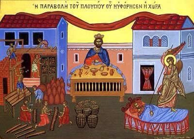 Orthodox icon - The parable of the rich fool