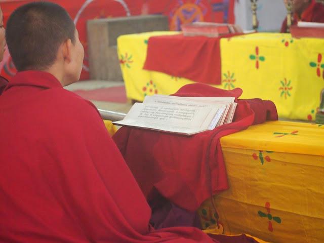 Nun prayers Bhutan