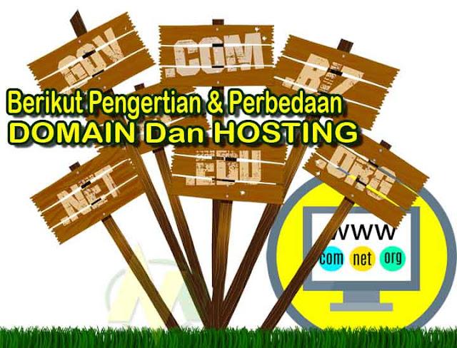 Perbedaan Antara Domain Dengan Hosting