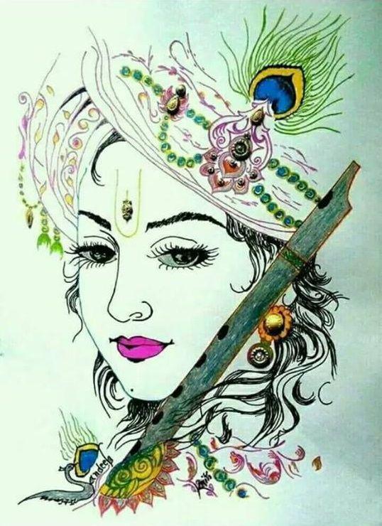 Cute Lord Krishna Wallpaper