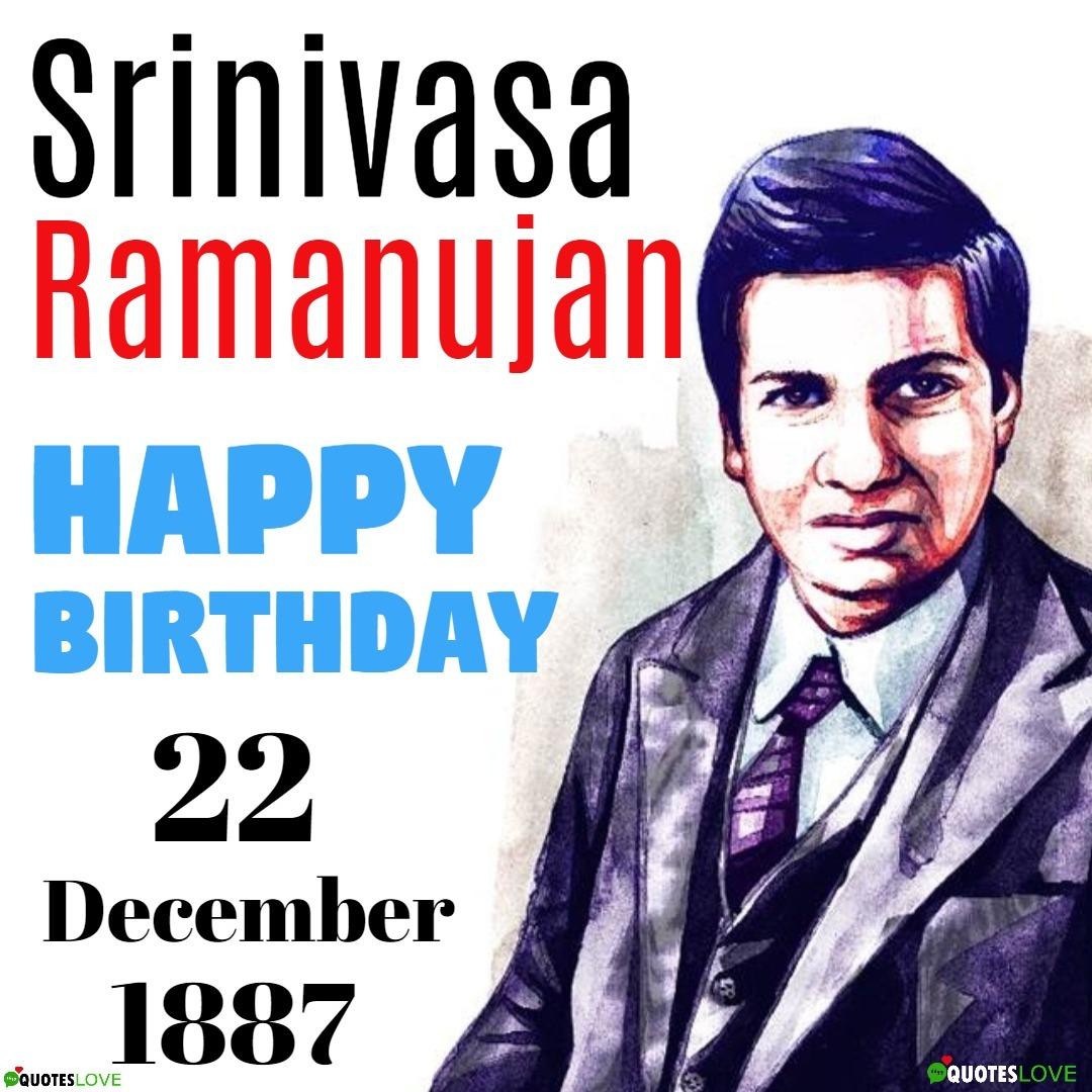 Srinivasa Ramanujan Birthday Image - National Mathematics Day