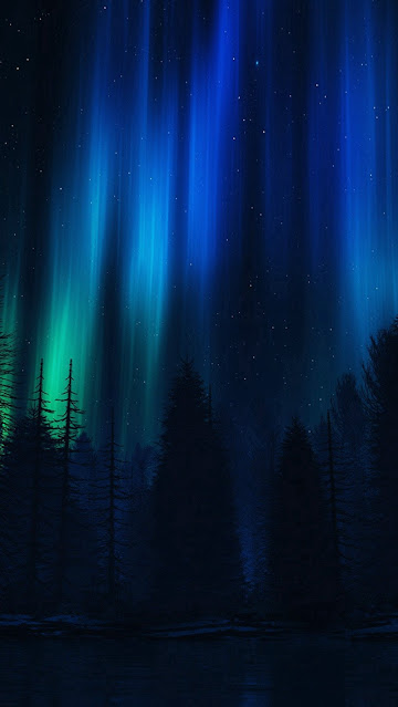 Fundo Papel de Parede Celular Aurora Boreal