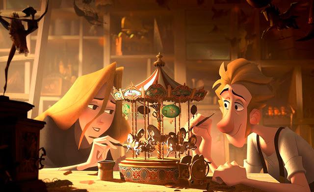 Jesper y Alva en la película Klaus de The SPA Studios (Sergio Pablos Animation)