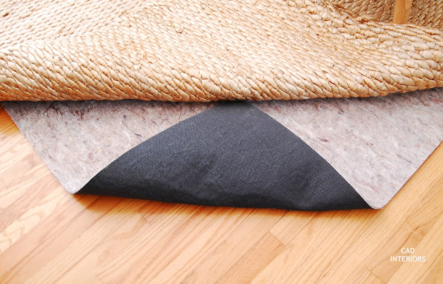 CAD INTERIORS and Rug Pad USA collaboration rug pad product review