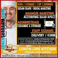 Bursa Kerja Surabaya di Lemon Lime Kitchen September 2020