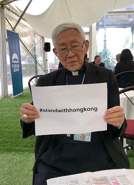 O Cardeal Joseph Zen, maior líder moral de Hong Kong