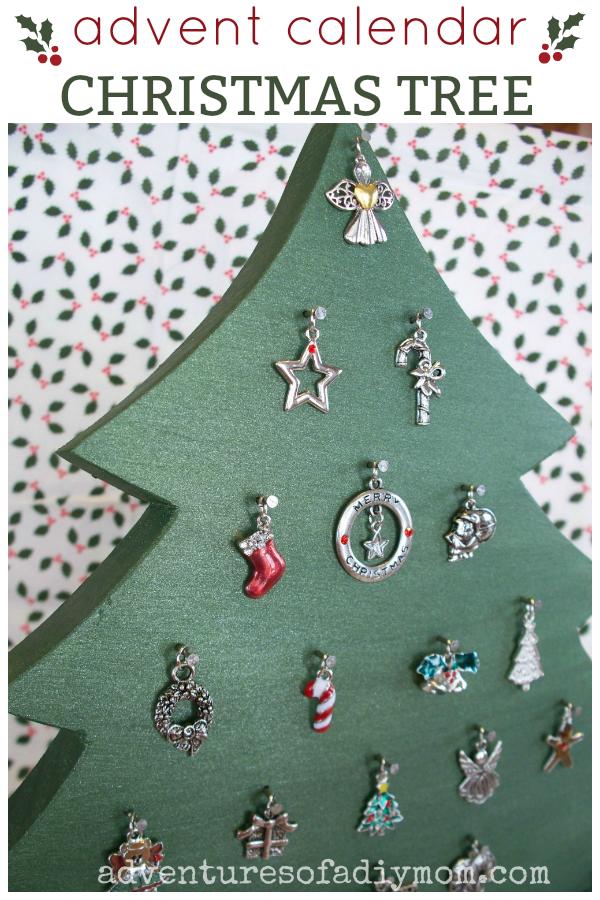 Christmas Charm Advent Tree Adventures Of A Diy Mom