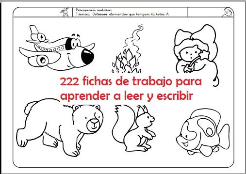 200 FICHAS PARA ENSEÑAR A LEER Y ESCRIBIR DESCARGA GRATIS