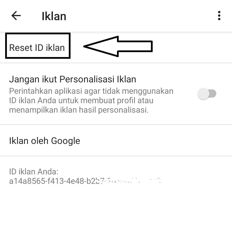 41+ Cara Reset Id Iklan Google paling mudah