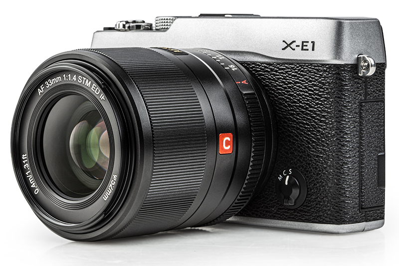 Viltrox AF 33mm f/1.4 XF с камерой X-E1