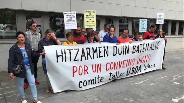 Protesta de los trabajadores de Usoa