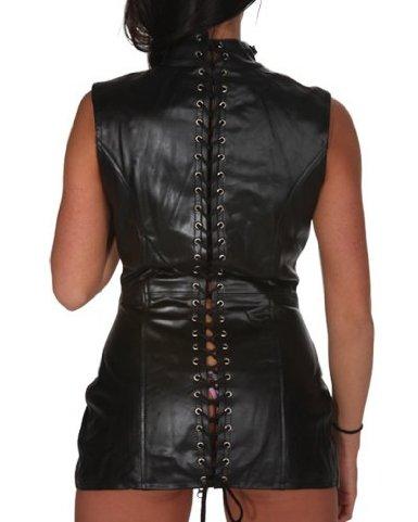 plus size fashion shaper black leather corset mini skirt