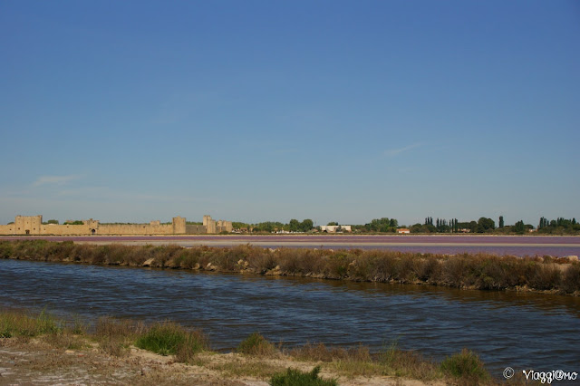 Le saline di Aigues Mortes con la cittadella