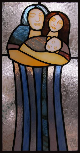 vánoční dárek vitrážový obrázek
