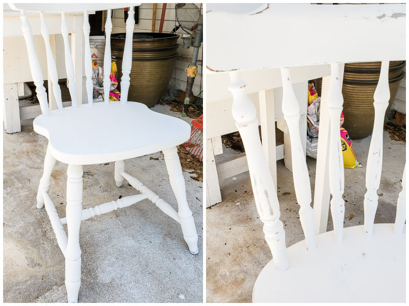 chair before and after distressing